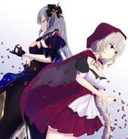 Marie Antoinette and Alter Marie by Ikumireii