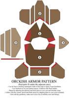 Orckish armor pattern by Zapan99
