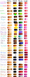 OCs color palettes by Light-Leckrereins