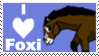 I Love Foxi Ladi Stamp by Misaki-Fain