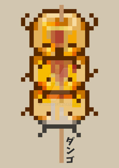 Pixel Mitarashi Dango By Tanmo On Deviantart
