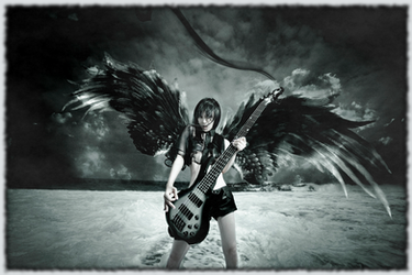 Chthonic - Doris Yeh bass and wings wallpaper