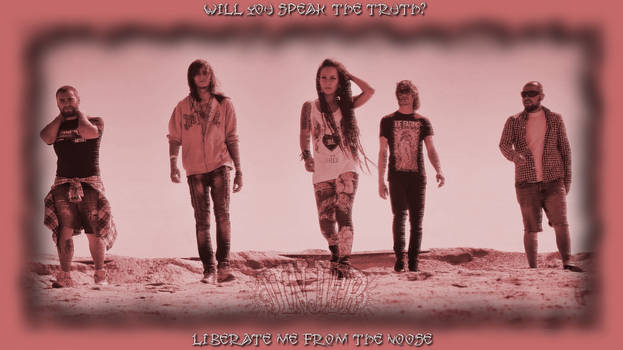 Jinjer wallpaper with red border and lyrics