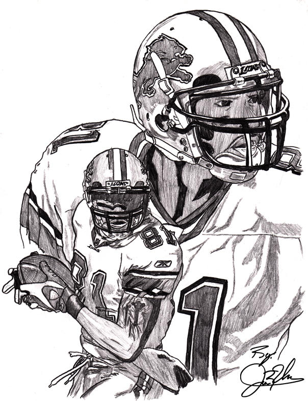 Detroit Lions Calvin Johnson By Newerausher On Deviantart