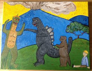 Godzilla's Revenge by Ruprecht-Tehbunee
