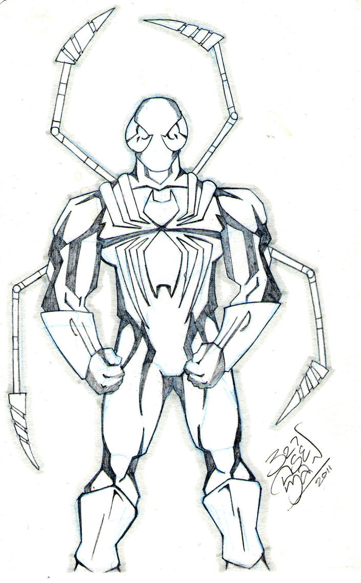 Iron Spider Drawings