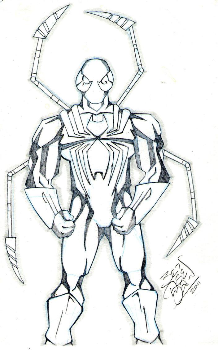 Iron spider man sketch by lloydbridgeman on deviantart