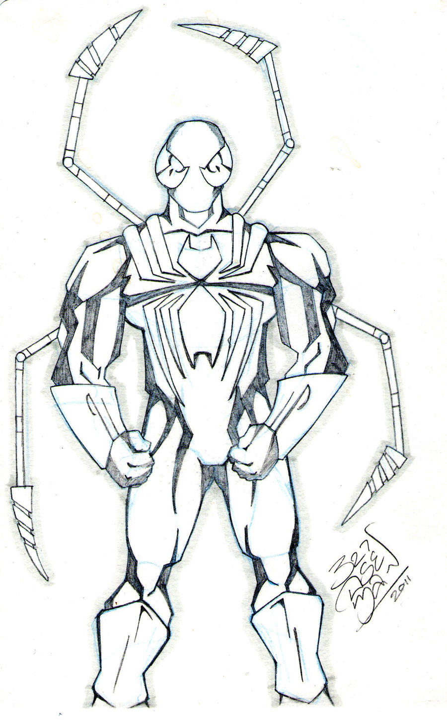 LloydBridgeman Iron Spider Man Sketch By