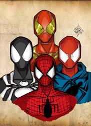 Four Spider-men of the Apocalypse by LloydBridgeman