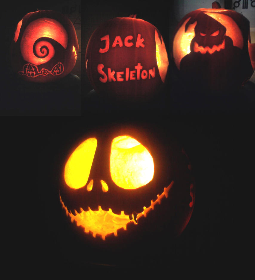 Nightmare Before Christmas Pumpkin - Christmas Cards