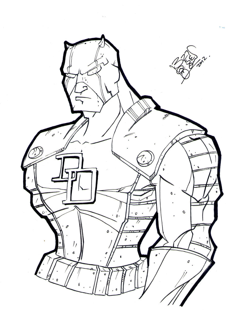 daredevil coloring pages - photo#21