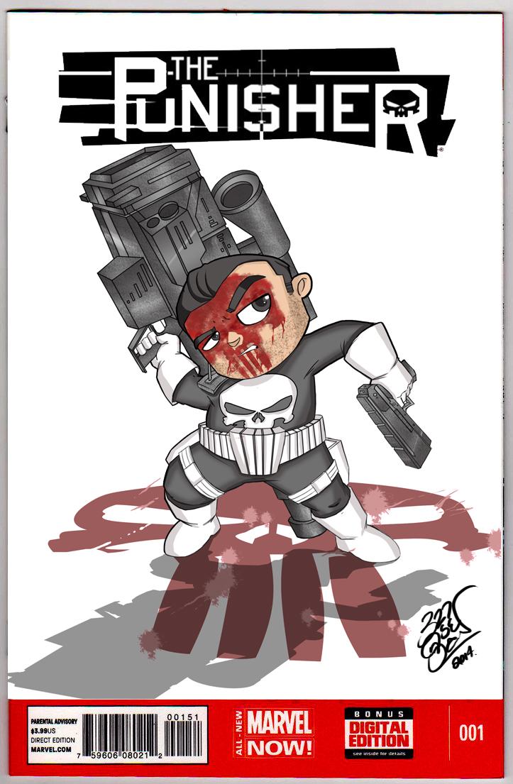 Punisher Cover B by LloydBridgeman