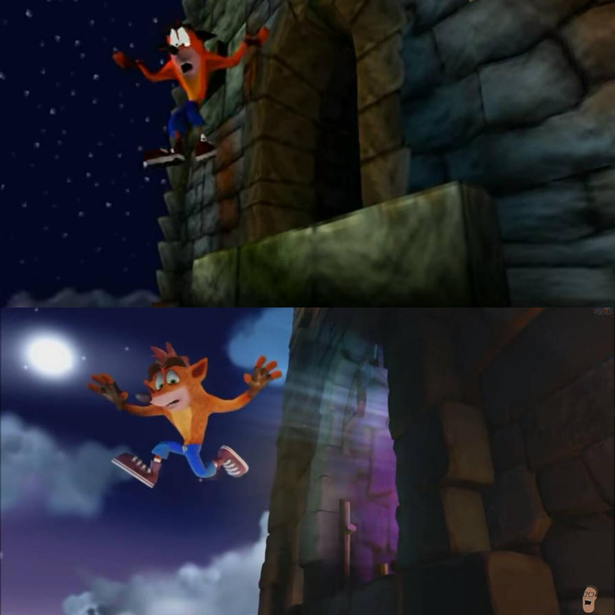 Crash Bandicoot 1996 vs 2017 by Falco2015 on DeviantArt