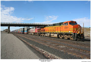BNSF Dash 9s by hunter1828