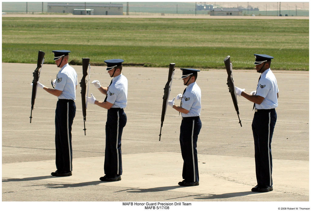 MAFB Honor Guard Drill Team by hunter1828