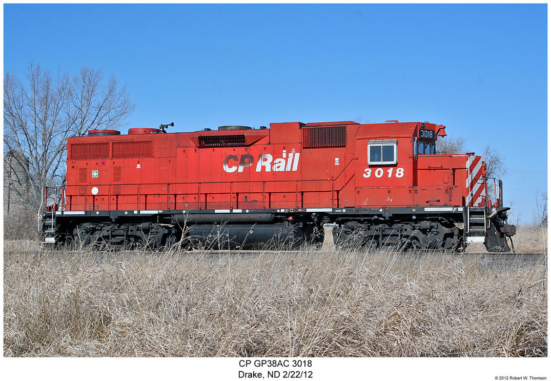 CP GP38AC 3018 by hunter1828