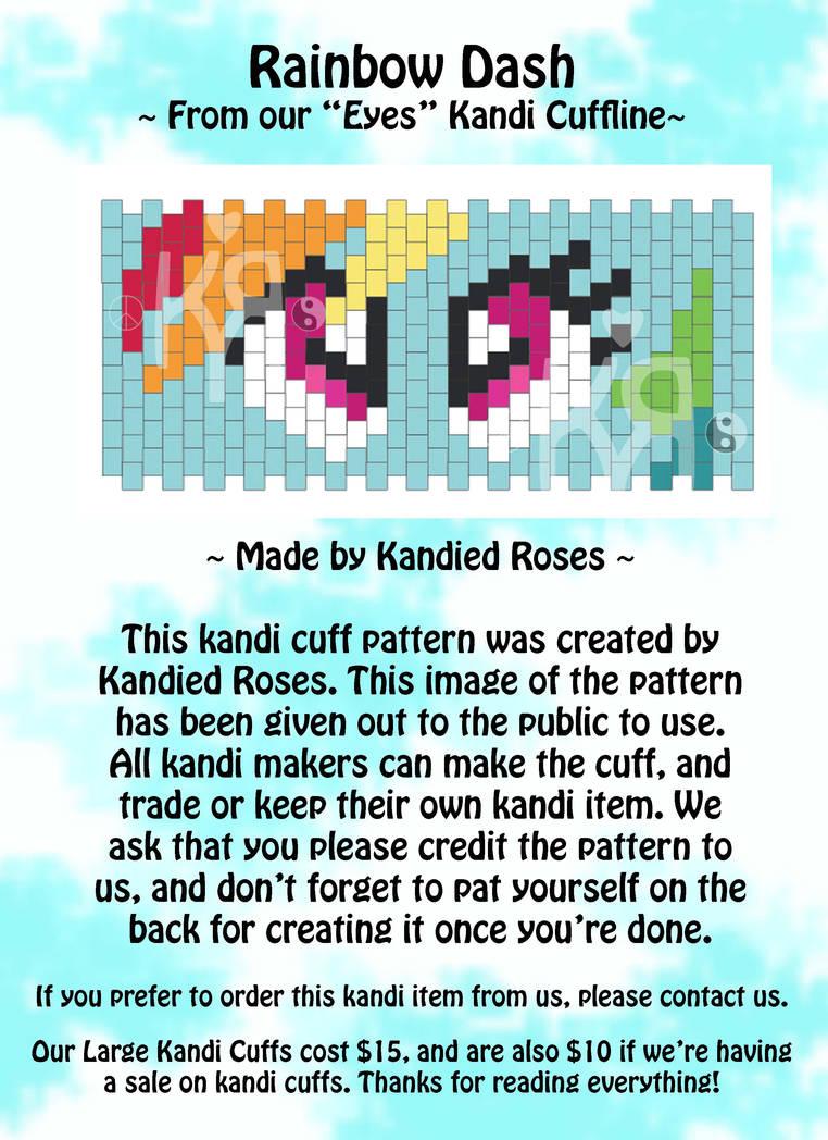 Kandi Patterns Rainbow Dash from Eyes Cuffline by