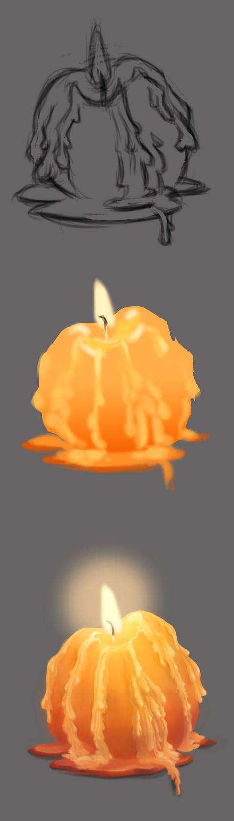 Material Study Candle by NandudaLama