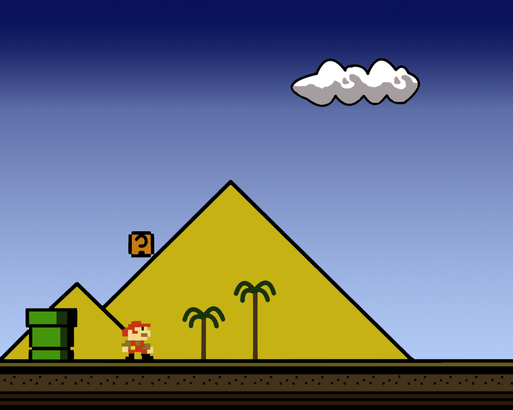 Limpurtikles Mario Colored: Super Mario Land 1-1 Colored By Grouwel On DeviantArt