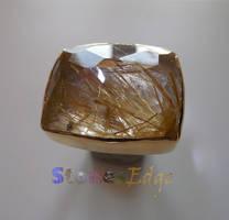 Rutilated Quartz Ring (handmade)