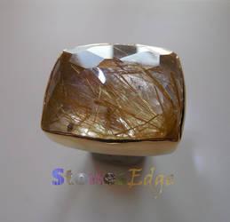 Rutilated Quartz Ring (handmade) by StonesEdge