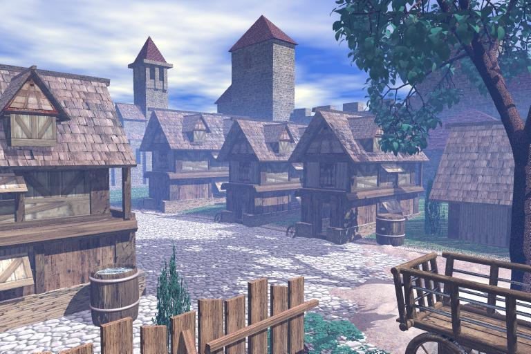 Selo Toyone - Page 2 3d_bryce_5_medieval_town_by_sedeslav
