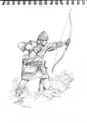 medieval archer by Sedeslav
