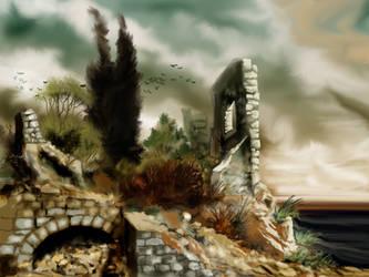Ancient ruins by Sedeslav