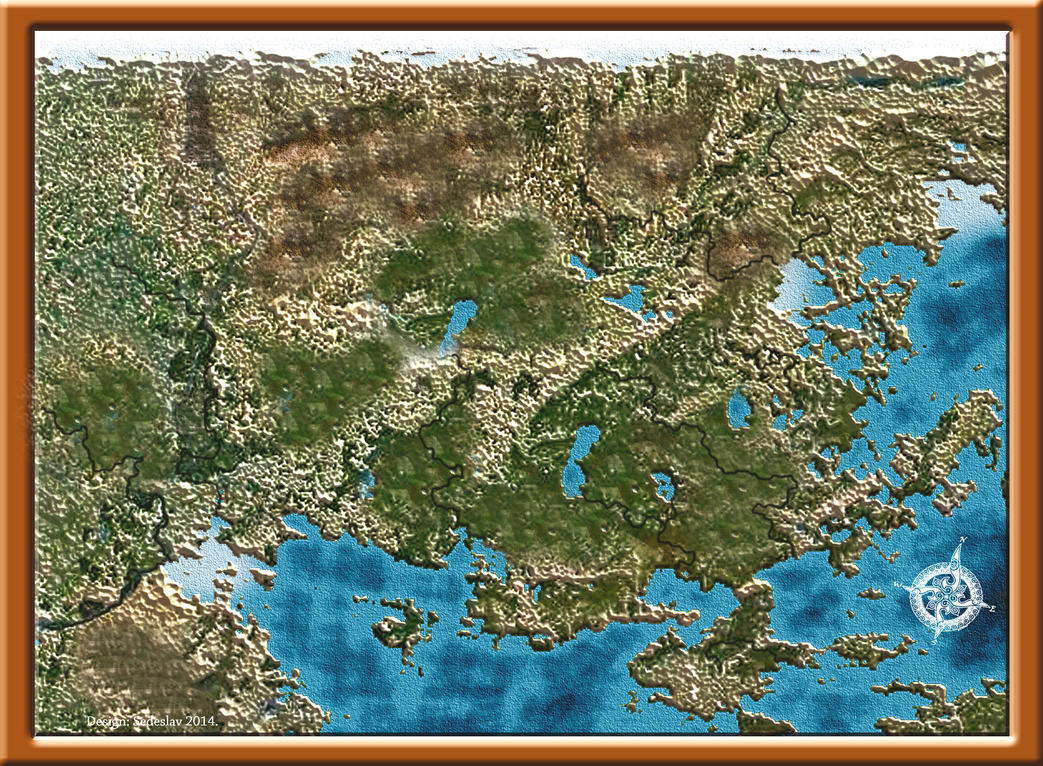 Blank Fantasy Map - Design Templates
