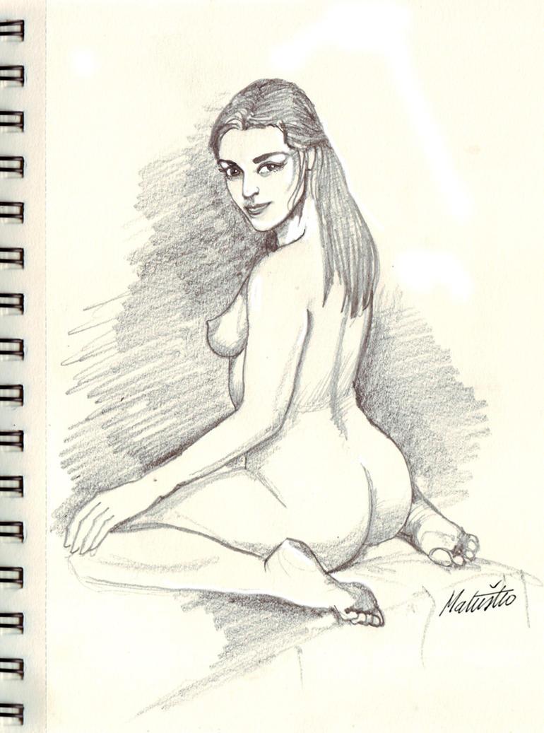 kneeling model by Sedeslav