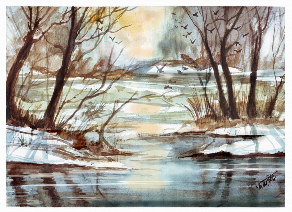 Forest Ponds by Sedeslav