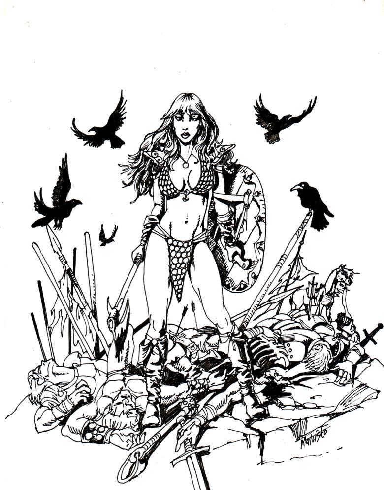 Warrior woman by Sedeslav