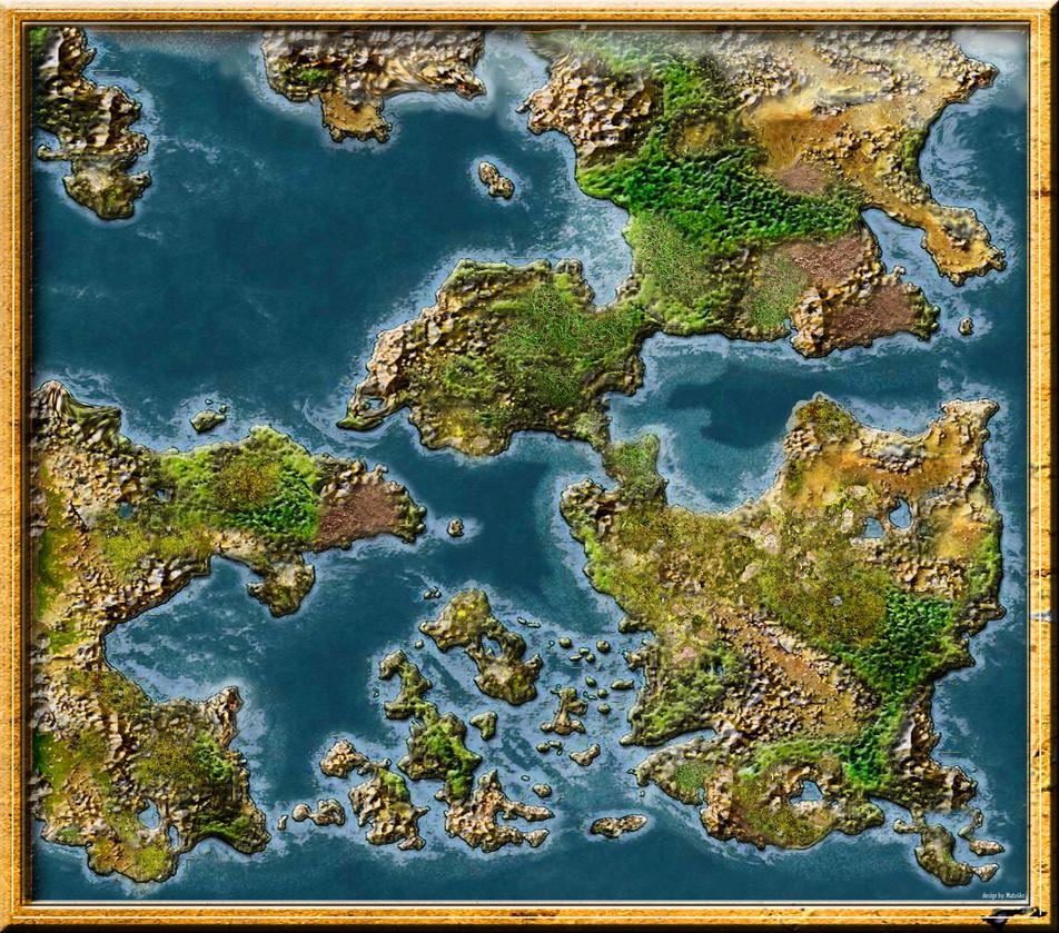New blankmap of a fantasy world by Sedeslav on DeviantArt