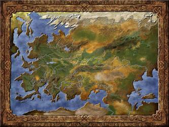 Karta starog svijeta - map of the Old World by Sedeslav