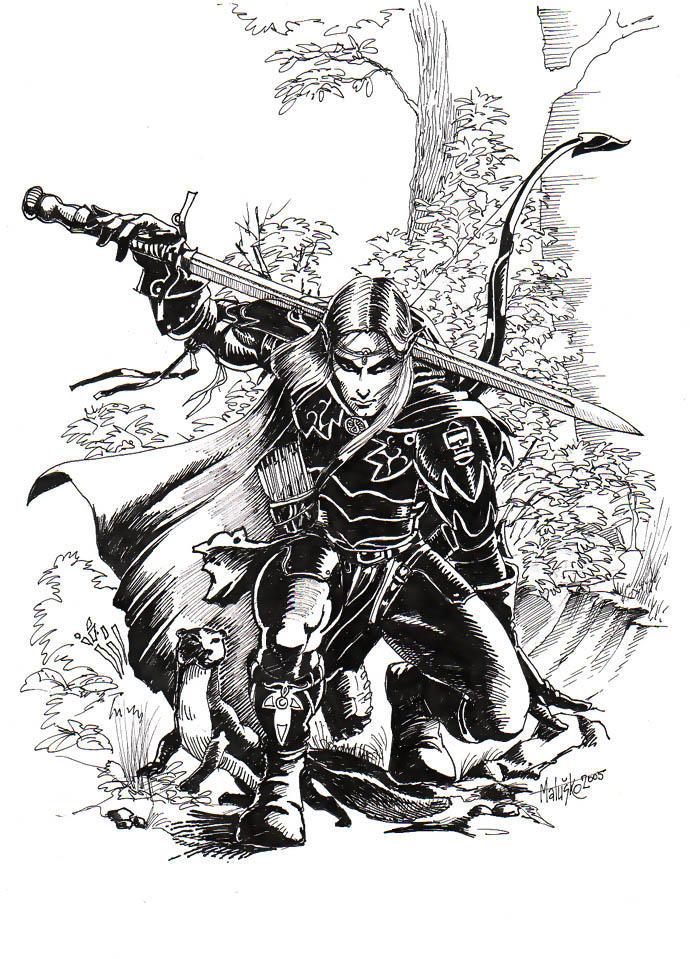 Elven ranger by Sedeslav