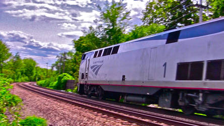 High-speed shot: Amtrak Genesis #1 at 60 mph by TrinityctStudios