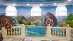 Swimming pool  ,  wall 2 , 2.5 x 5.8 m    2017 by TinGali