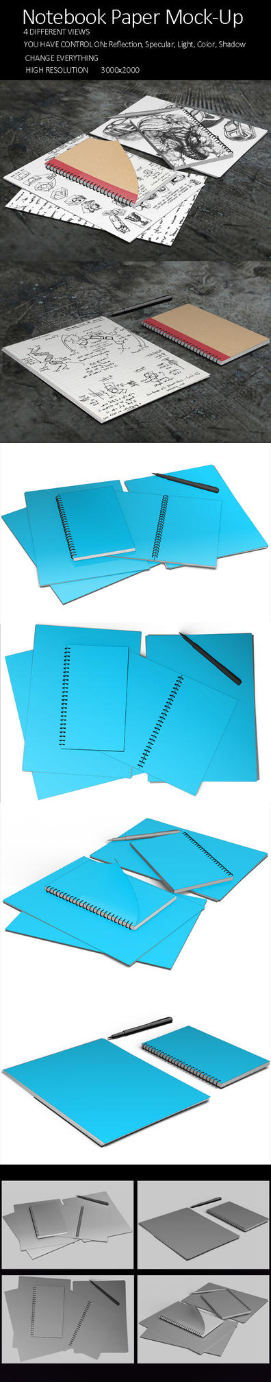 Update Notebook Paper Mock Up by KILVAM
