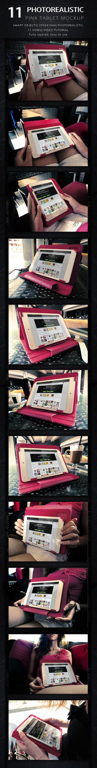 Pink tablet Mock up by KILVAM