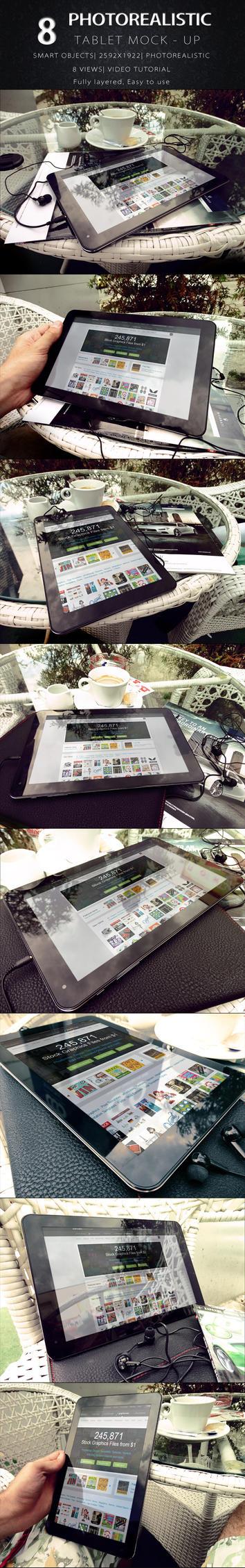 Photorealistic Tablet Mock Up V.2 by KILVAM