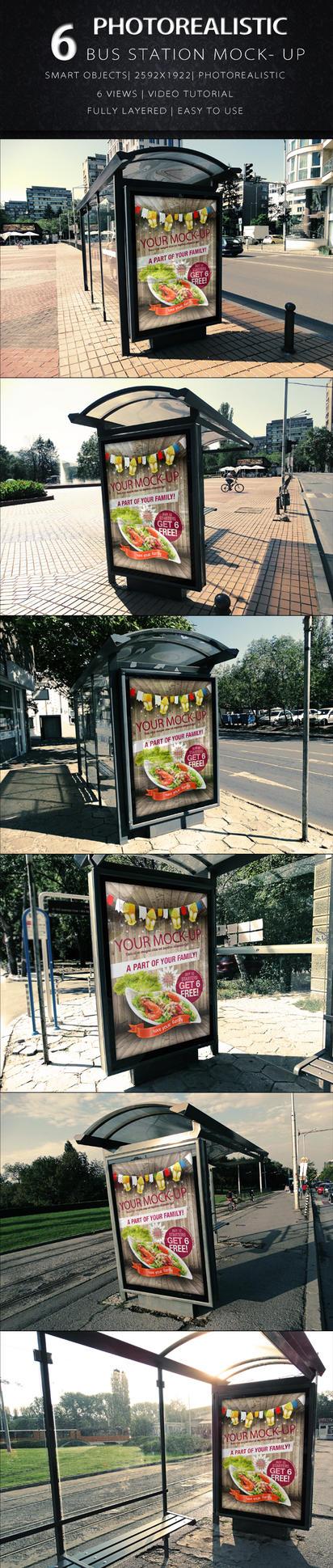 Bus Station Mock Up by KILVAM