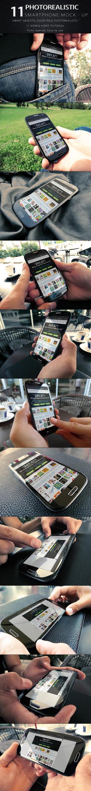 Photorealistic Smart Phone Mock Up by KILVAM