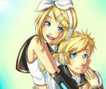 - Rin and Len Kagamine -