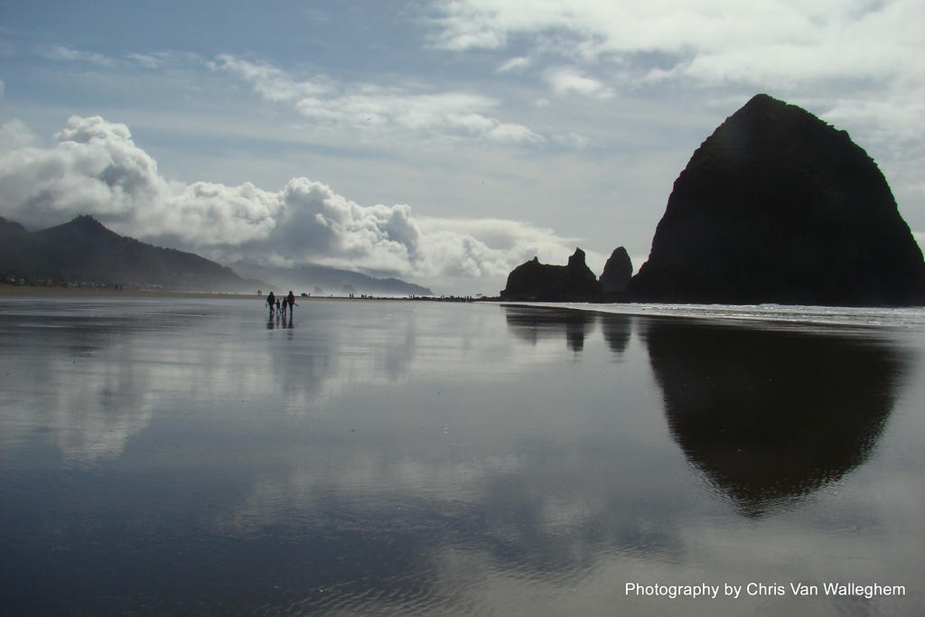 Canon Beach Reflections by vanwaglajam