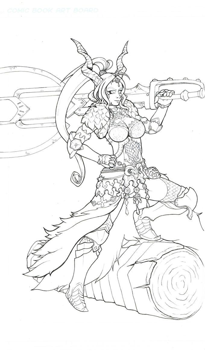 WIP Kulva armor by Logical-Cogs