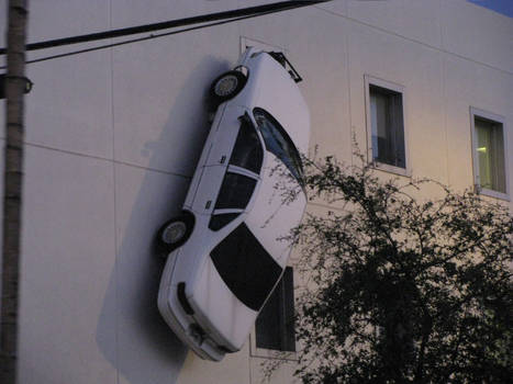 Car on the wall