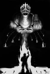 The Birth of Cinder - Grey scale. by PlayCeboVision