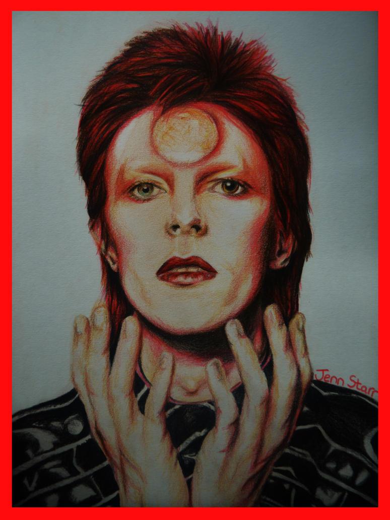 Bowie portrait by Jennifer-Star