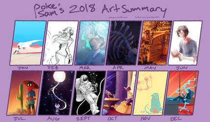 2018 Art Summary by pokesam