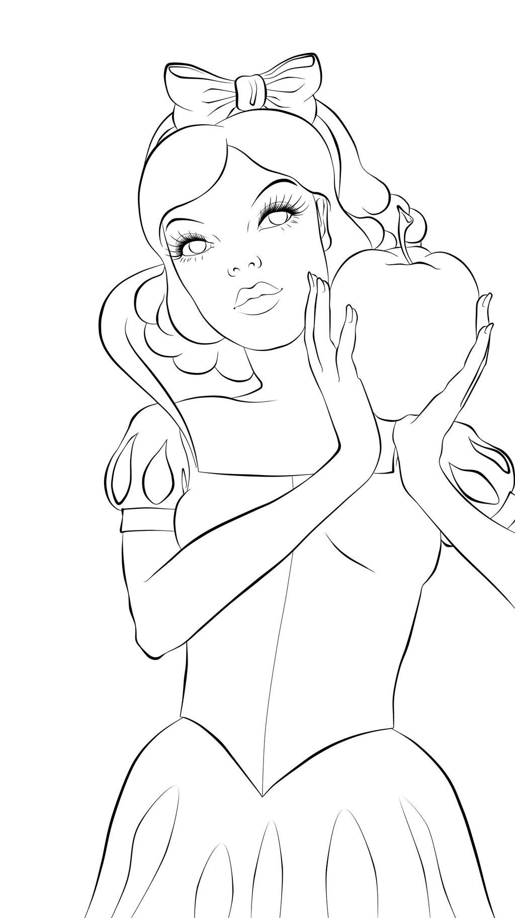 how to draw snow white full body